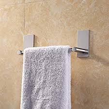 hand towel hanger.  Hanger KES 3M Self Adhesive Towel Bar 9Inch Small Bathroom Kitchen Hand  Hanger Sticky To O