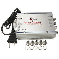 tv antenna booster. 4 way tv vcr catv cable antenna signal amplifier booster splitter tv l