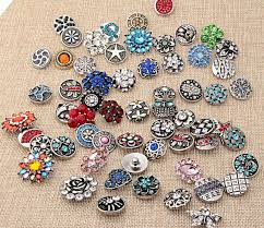 whole 50pcs lot mix styles colors 18mm small on snap jewelry interchangeable ginger snap on charm