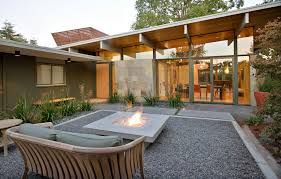 modern patio floor. Beautiful Patio Arched Roof With Gravel Patio Midcentury And Painting Concrete Mid Century  Modern Astonishing 9 Floor A