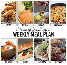 weekly meal planning for two weekly meal plan week two the 36th avenue