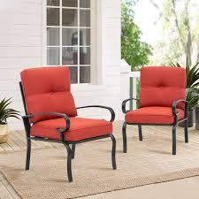 suncrown 2 piece patio chairs metal