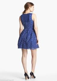 Xscape Blue New Embroidered Lace Fit And Flare Short Cocktail Dress Size 10 M