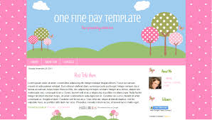 Cute Template One Fine Day Cute Outdoor Blogger Template