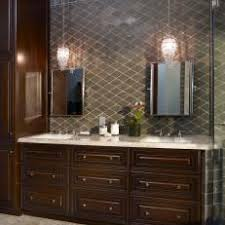 dark vanity with marble countertop glass pendant lights bathroom pendant lighting double vanity