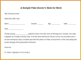 Doctor Note Sample Elegant How To Make A Fake Doctors D Example