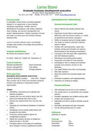 Samples Of Curriculum Vitae For Graduates Graduate Cv Template