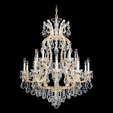 schonbek maria theresa 16 light crystal chandelier crystal chandeliers chandeliers
