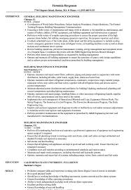 general engineer resume building maintenance engineer resume samples velvet jobs