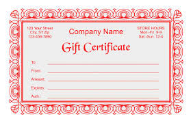 Store Gift Certificate Template Store Gift Certificate Template Gift Certificate Template 2