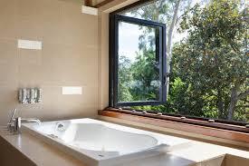 bathroom window. La Bathroom Views Through Folding Glass Window