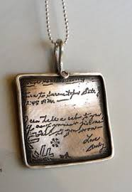 handwriting on a necklace in sterling silver by etchedinmetal handwriting sparkle jewelry making