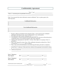 Privacy Agreement Template Non Disclosure Simple Printable Canada ...