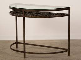 old and vintage half moon console table with glass top storage shelf plus iron frame legs ideas surprising round top dining room chair covers