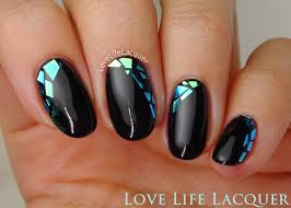 Love Life Lacquer: Mosaic Gel Nails using Foil | Nail Art