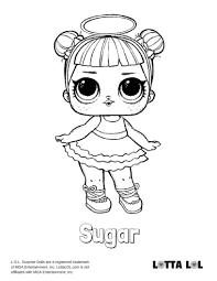 Sugar Coloring Page Lotta Lol Lol Surprise Series 2 Coloring
