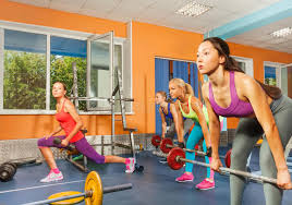 weight group group weight lifting class in fitness club stock photo image of