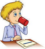 drinking coffee clipart. Delighful Clipart A Businessman Drinking Coffee Inside Drinking Coffee Clipart O