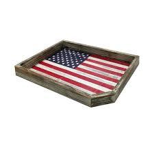 vintage wood american flag serving tray vintage whitewashed wood flag rustic wooden decorative display holder