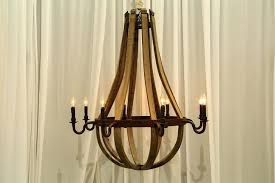 wood and metal barrel chandelier chrome sphere wine als signature chandeliers kitchen agreeable this amazing