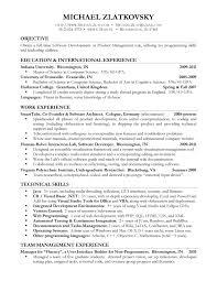 Soft Skills Good Sample Computer Science Intern Resume Pertaining