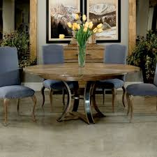 rustic round jupe dining table small