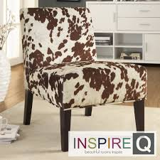 inspire q decor cowhide fabric chair com ping great deals on inspire q chairs