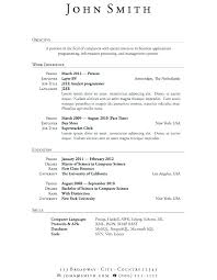 Sample Of A College Student Resume Latest Design Examples Of College ...