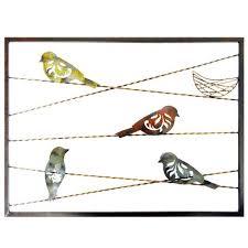 bird on wire metal wall art