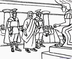 Coloring Page Jesus Before Pilate Dheashintiaprilianicom
