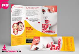 Beauty Salon Trifold Brochure Template Freedownloadpsd Com