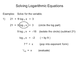 examples solve for the variable