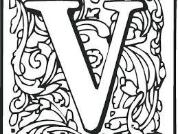 Letter V Coloring Page Letter V Coloring Page Free Printable