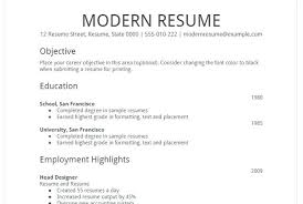 Easy Resume Samples Simple Job Resume Template Formal Simple Job