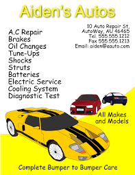 Auto Repair Flyer Auto Repair Flyer Template For Inkscape Free Download