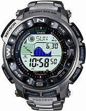 "digital watches men s ladies digital watches watch shop comâ""¢ mens casio pro trek titanium alarm chronograph radio controlled watch prw 2500t 7er"