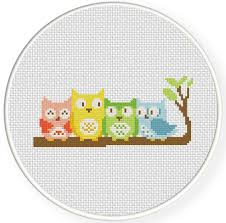 Owl Cross Stitch Pattern Awesome Owl Friends Cross Stitch Pattern Daily Cross Stitch