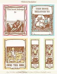 Vintage Childrens Bookplates Free Printable Free