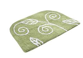 jsj cheng non slip oval cotton chenille area bathroom rugats with maple leaf pattern