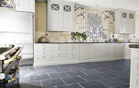 kitchen floor tiles with white cabinets. White Cabinet And Grey Ceramic Floor Tiles For Cottage Style Kitchen Ideas With Cabinets