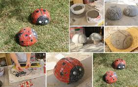 diy ladybug mosaic garden sculpture diy projects