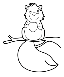 Cute Baby Squirrel Coloring Pages Pattern Design Ideas Squirrel