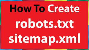 how to create robots txt file sitemap