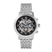rotary rotary men s skeleton stainless steel bracelet watch h samuel