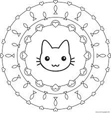 Mandala Coloring Pages For Kids Printable Animal Page Sheets