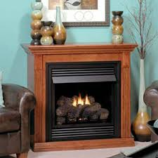 empire vail 26 vent free special edition natural gas fireplace with wooden mantel