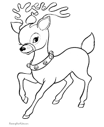Small Picture Reindeer coloring pages for Christmas