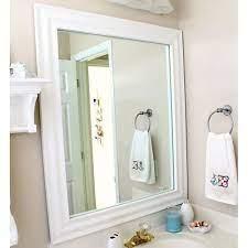 White Frame For Wall Mirror Mirror Frames Bathroom Mirrormate