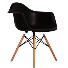 ray eames furniture. charles ray eames style daw arm chair black furniture