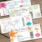 Boarding Pass Wedding Invitation Card These Boarding Passes Are